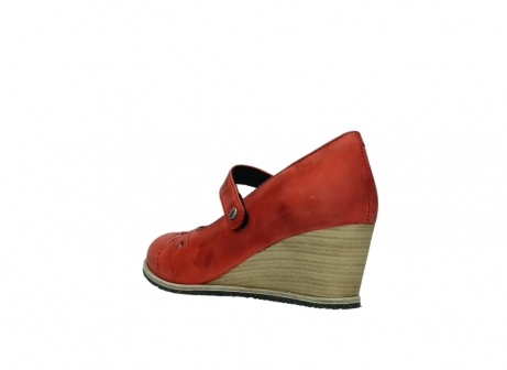 wolky pumps 4655 oliva 553 koraal rood geolied leer_4