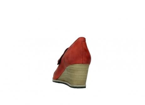 wolky pumps 4655 oliva 553 koraal rood geolied leer_6