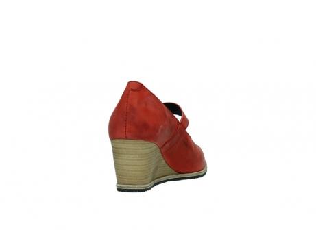 wolky pumps 4655 oliva 553 koraal rood geolied leer_8