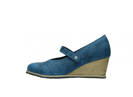 wolky pumps 4655 oliva 582 denim blauw geolied leer_1