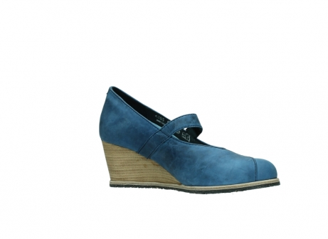 wolky pumps 4655 oliva 582 denim blauw geolied leer_15