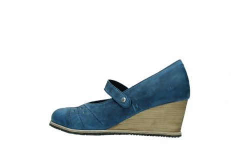 wolky pumps 4655 oliva 582 denim blauw geolied leer_2
