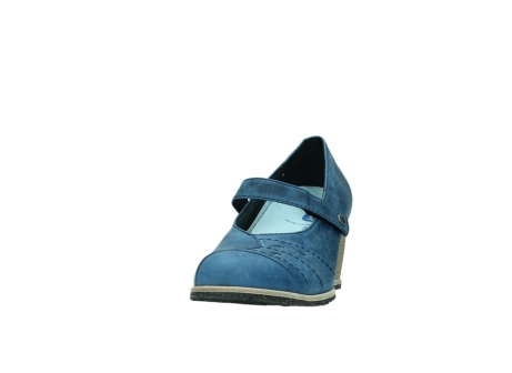 wolky pumps 4655 oliva 582 denim blauw geolied leer_20