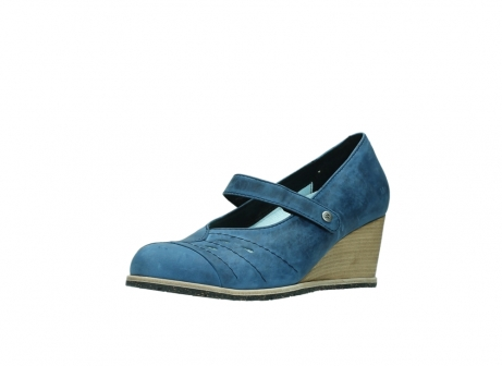 wolky pumps 4655 oliva 582 denim blauw geolied leer_22