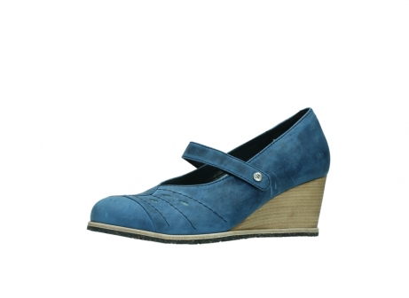 wolky pumps 4655 oliva 582 denim blauw geolied leer_23