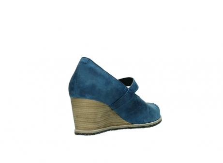 wolky pumps 4655 oliva 582 denim blauw geolied leer_9