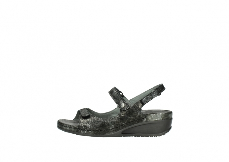 wolky sandalen 00425 shallow 60000 black caviar print leather_1