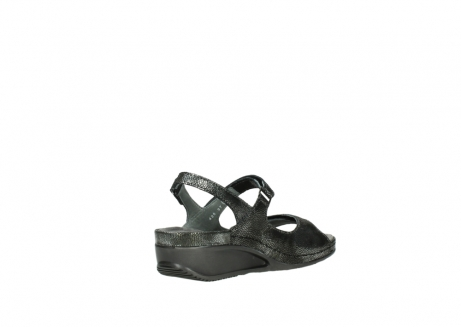 wolky sandalen 00425 shallow 60000 black caviar print leather_10