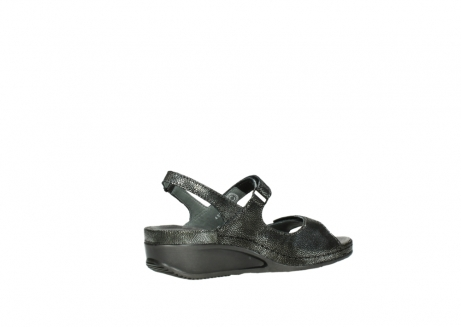 wolky sandalen 00425 shallow 60000 black caviar print leather_11