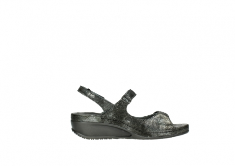 wolky sandalen 00425 shallow 60000 black caviar print leather_13