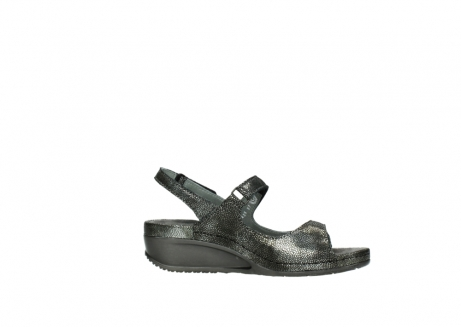 wolky sandalen 00425 shallow 60000 black caviar print leather_14