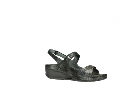 wolky sandalen 00425 shallow 60000 black caviar print leather_15