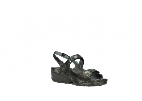 wolky sandalen 00425 shallow 60000 black caviar print leather_16