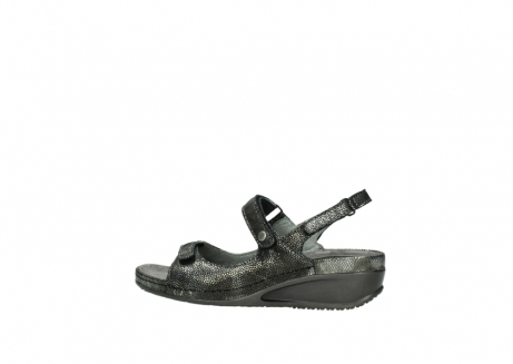wolky sandalen 00425 shallow 60000 black caviar print leather_2