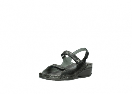 wolky sandalen 00425 shallow 60000 black caviar print leather_22