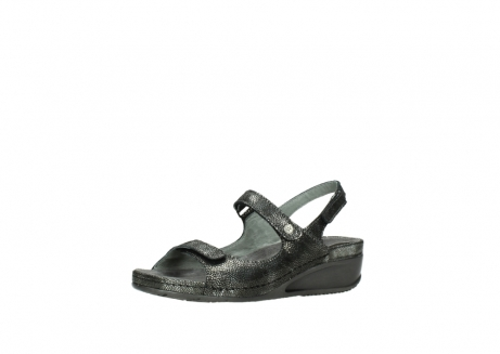 wolky sandalen 00425 shallow 60000 black caviar print leather_23