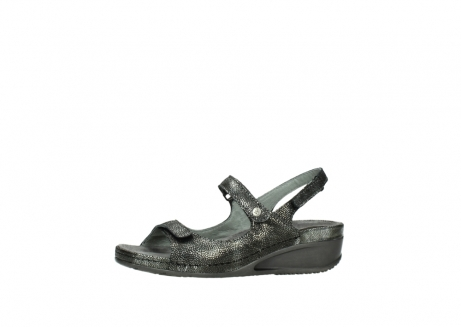 wolky sandalen 00425 shallow 60000 black caviar print leather_24