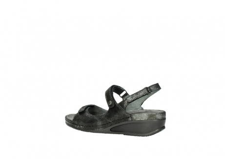 wolky sandalen 00425 shallow 60000 black caviar print leather_3