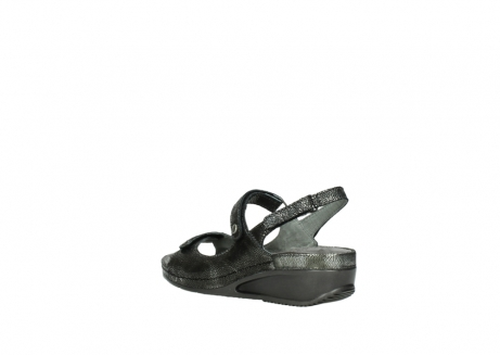 wolky sandalen 00425 shallow 60000 black caviar print leather_4
