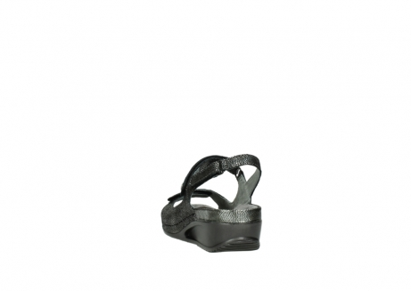 wolky sandalen 00425 shallow 60000 black caviar print leather_6
