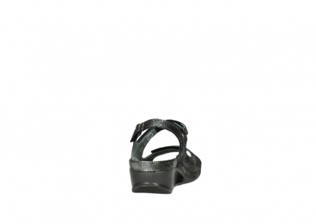 wolky sandalen 00425 shallow 60000 black caviar print leather_8