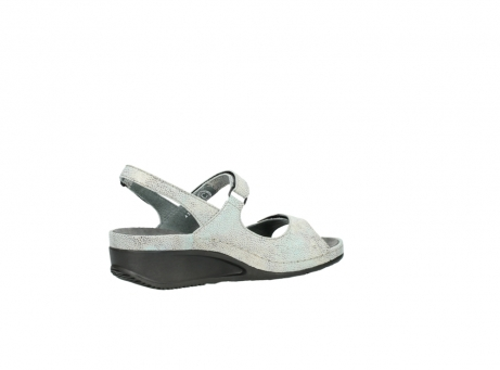 wolky sandalen 00425 shallow 60790 mintgreen caviar print leather_11