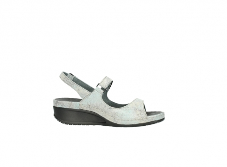 wolky sandalen 00425 shallow 60790 mintgreen caviar print leather_14