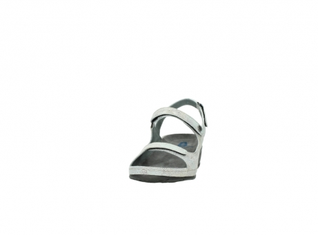 wolky sandalen 00425 shallow 60790 mintgreen caviar print leather_20