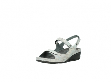 wolky sandalen 00425 shallow 60790 mintgreen caviar print leather_22