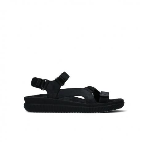 wolky sandalen 00710 energy lady 50000 zwart gevet leer