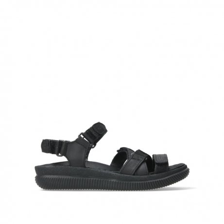 wolky sandalen 00720 action lady 50000 black greased leather