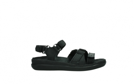 wolky sandalen 00720 action lady 50000 black greased leather_1
