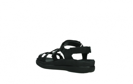 wolky sandalen 00720 action lady 50000 black greased leather_16