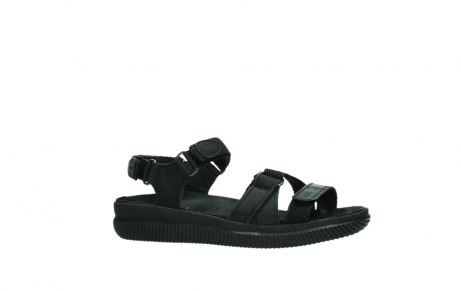 wolky sandalen 00720 action lady 50000 black greased leather_2