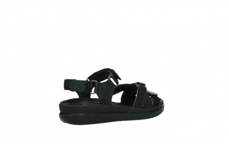 wolky sandalen 00720 action lady 50000 black greased leather_22