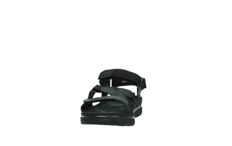 wolky sandalen 00720 action lady 50000 black greased leather_8