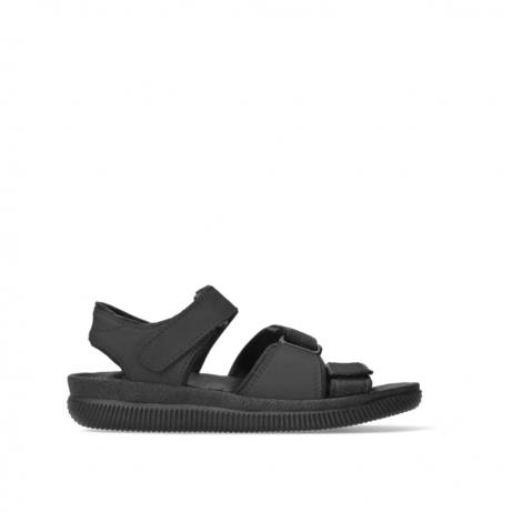 wolky sandalen 00722 active 50000 schwarz gefettete leder