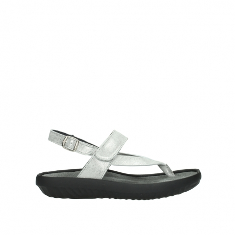 wolky sandalen 00882 cebu 70120 off white silver leather