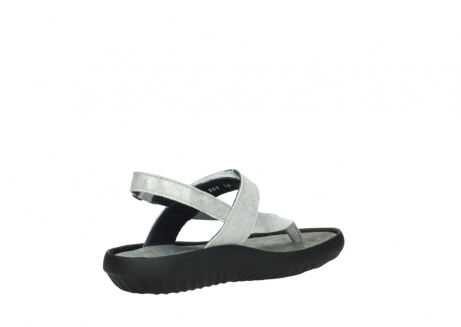 wolky sandalen 00882 cebu 70120 off white silver leather_10
