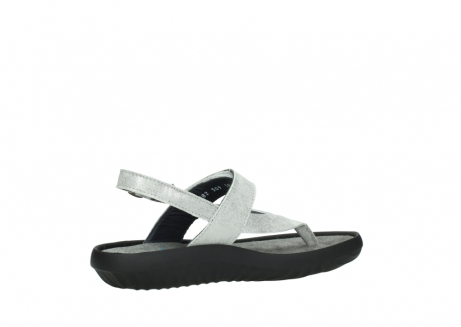 wolky sandalen 00882 cebu 70120 off white silver leather_11