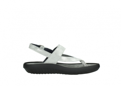 wolky sandalen 00882 cebu 70120 off white silver leather_13
