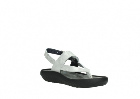 wolky sandalen 00882 cebu 70120 off white silver leather_16