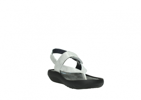 wolky sandalen 00882 cebu 70120 off white silver leather_17