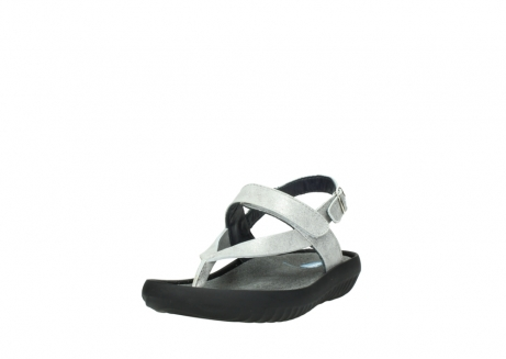 wolky sandalen 00882 cebu 70120 off white silver leather_21