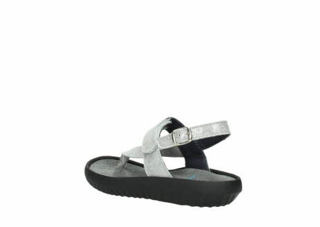 wolky sandalen 00882 cebu 70120 off white silver leather_4