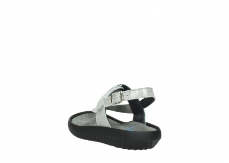 wolky sandalen 00882 cebu 70120 off white silver leather_5