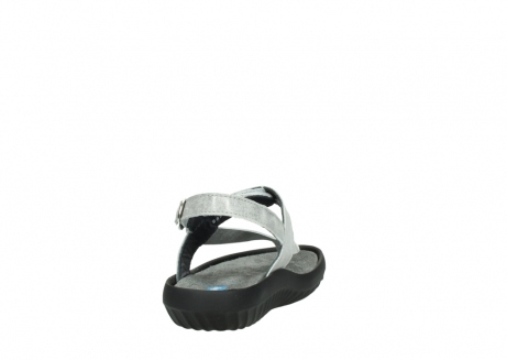 wolky sandalen 00882 cebu 70120 off white silver leather_8