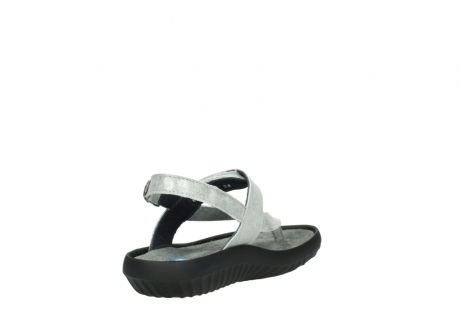 wolky sandalen 00882 cebu 70120 off white silver leather_9
