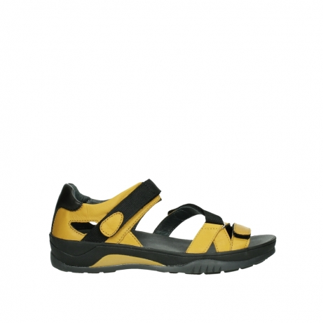 wolky sandalen 01050 ripple 30900 yellow leather