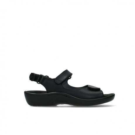 wolky sandalen 01300 salvia 30000 zwart leer